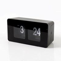 인테리어 시계 저소음 플립 사각 탁상시계 GC001_BK