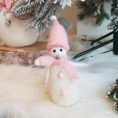 코가 길어 귀여운 피노키오 눈사람 인형