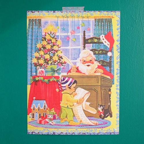 [디저트신드롬] 빈티지 미니 포스터 :: 크리스마스 2종