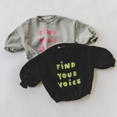 핑)파인 아동 맨투맨티셔츠