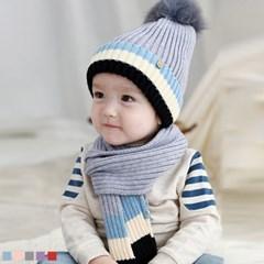 블루밍 폼폼 유아모자 2종세트 (0-36개월) 509657_(902817915)