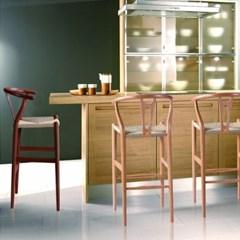 와이 바 체어 인테리어 디자인 원목 실방석 의자