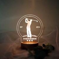 문구제작 골프 LED 투명 아크릴 무드등