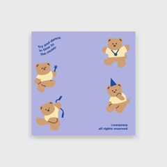 Dancing bear-purple(떡메모지)_(1386684)