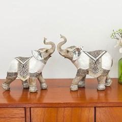 명품 자개 코끼리 2P-대