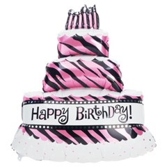 [원팩] 생일은박풍선 3단케익 지브라 연핑크 59x86cm_(11878691)
