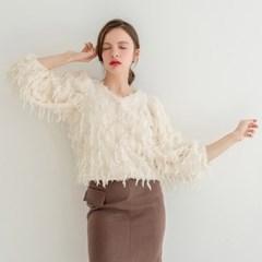 [320쇼룸] Fleece Feather Cardigan