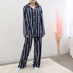 P8547 울트라 극세사 줄무늬 남성용 잠옷세트(2color)