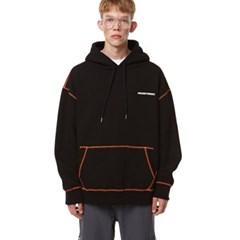 Unisex Stitch Oversize Hood BLACK