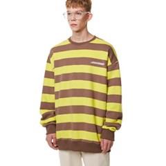 Unisex Striped Sweatshirt BROWN