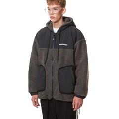 Heavy Fleece Hood Zip-up GRAY