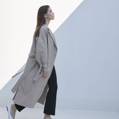 Long Robe Trench Coat (Ivory)