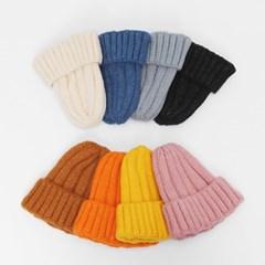 남녀공용 쫀쫀 두꺼운 골지 울 100 비니 모자