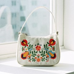 lady hobo bag (white)