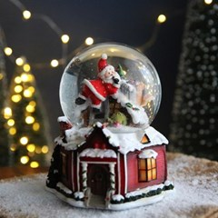 크리스마스 스노우볼 오르골 워터볼 L - 산타클로스A - 막스(MARKS)