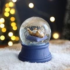 크리스마스 펫 스노우볼 동물 워터볼 M - 잠자는 개 - 막스(MARKS)
