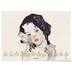 2020 패브릭 포스터 모던 디자인 달력 에곤 쉴레 no.3