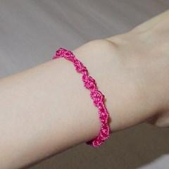 KNC. Pink 실팔찌 핑크