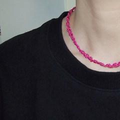 KNC.N Pink 실목걸이 핑크