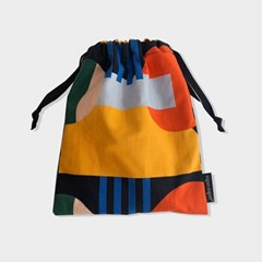 Sunset string pouch_m