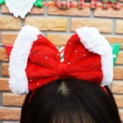 크리스마스 리본 머리띠 (레드)_(301762673)