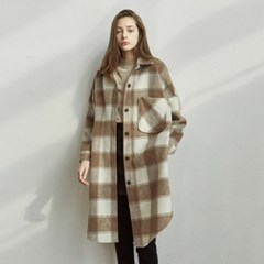 GINGHAM LONG SH_BEIGE