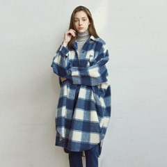 GINGHAM LONG SH_NAVY