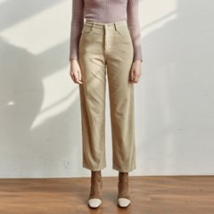 CORD SEMI WIDE PANTS_LIGHT BEIGE
