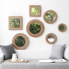 디자인 라탄 거울-7종