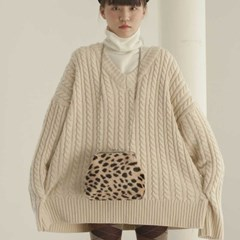 [11/20 예약발송]Amelie frame bag_cheetah (beige)