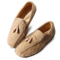 kami et muse Tessle angora fur loafers_KM19w150