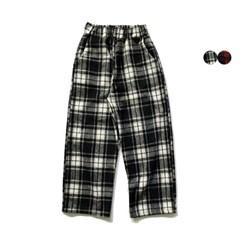 기모 타탄 체크 크롭 팬츠 Tartan Check Crop Pants(2color)