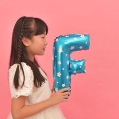 파티복닷컴 이니셜 알파벳 풍선 블루 F 중형 1개입 (PA01_16B_F)