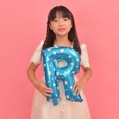 파티복닷컴 이니셜 알파벳 풍선 블루 R 중형 1개입 (PA01_16B_R)