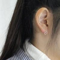 Heart C earring