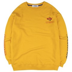 [COVERMENT] Cube Graphic Logo Over-Fit Sweatshirts_Yellow