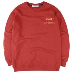 [COVERMENT] Cube Graphic Logo Over-Fit Sweatshirts_Orange