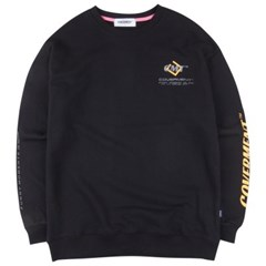 [COVERMENT] Cube Graphic Logo Over-Fit Sweatshirts_Black