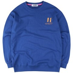 [COVERMENT] Signature Graphic Over-Fit Swatshirts_Royal Blue