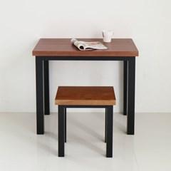 [리코베로] 모던 소나무원목 1인용 식탁의자세트