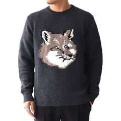 지에이치/메종키츠네 남성 스웨터 DM00516KT1016_D GY