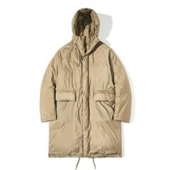 90/10 Duck Down Hood Long Padding Coat Beige