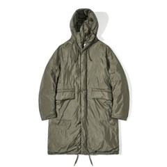 90/10 Duck Down Hood Long Padding Coat Khaki