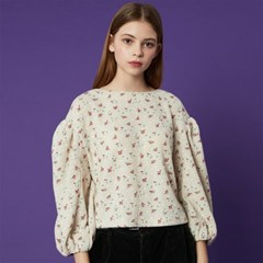 Balloon Blouse_Ivory