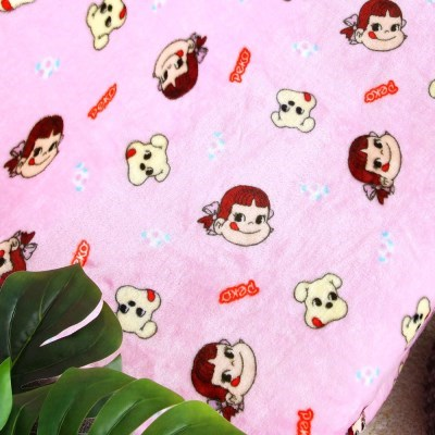 페코짱 극세사 패턴 담요 블랭킷 핑크 100x140_(1214765)