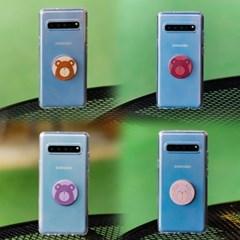 갤럭시A20 (A205) Bien-BearTok 그립톡 투명 젤리 케이스