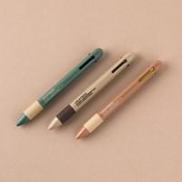LIFE & PIECES 4색 볼펜 0.5mm (3종)