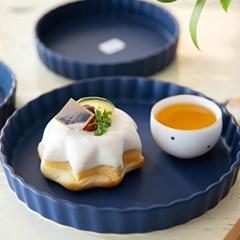 조이엘로 파이줄접시(네이비)(사이즈선택) / 엔틱 포인트 카페