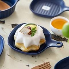 조이엘로 사각팬접시(네이비) / 엔틱 포인트 카페 디저트 접시