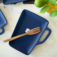 조이엘로 머그접시(네이비) / 엔틱 포인트 카페 디저트 접시
